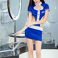 Dame Uniformer og kinesiske kjoler Nattøj - Åben ryg Farveblok