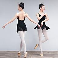 お買い得  ダンス用品-バレエ ドレス 女性用 訓練 / 性能 エラステイン / ライクラ 波柄 / コンビ ノースリーブ ドレス