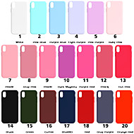 アップルiphone xr xs xs最大つや消し裏表紙iphone x 8 8プラス7 7プラス6 s 6 sプラスse 5 5 sのための固体色の柔らかいtpuのための場合