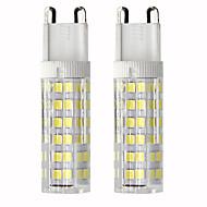 billige Kornpærer med LED-2pcs 4.5 W 450 lm G9 LED-kornpærer T 76 LED perler SMD 2835 Mulighet for demping Varm hvit / Kjølig hvit 110 V