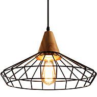 tanie Oświetlenie dekoracyjne-Latarnia / Przemysłowy Lampy widzące Światło rozproszone Drewno Drewno / Bambus Nowy design 110-120V / 220-240V