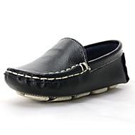 baratos Sapatos de Menino-Para Meninos Sapatos Pele Primavera & Outono Conforto / Primeiros Passos Mocassins e Slip-Ons para Infantil / Bébé Preto / Laranja / Azul
