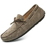 baratos Sapatos Masculinos-Homens Sapatos de couro Camurça Primavera & Outono Casual / Formais Sapatos de Barco Massgem Cinzento / Vermelho / Khaki