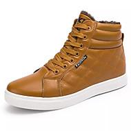 tanie Obuwie męskie-Męskie Komfortowe buty PU Jesień Casual Adidasy Oddychający Czarny / Żółty / Niebieski