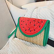 baratos Clutches & Bolsas de Noite-Mulheres Bolsas Palha Bolsa de Mão Fruta Khaki