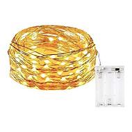 5 m lichtslingers 50 leds smd 0603 warm wit wit multi kleur waterdicht partij decoratieve aa batterijen aangedreven 1pc