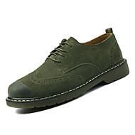 Heren Bullock schoenen Varkensleer Lente Informeel Sneakers Ademend Grijs / Bruin / Groen