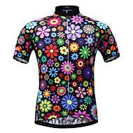 JESOCYCLING Dámské Krátký rukáv Cyklodres - Duhová Květiny Větší velikosti Kolo Dres Vrchní část oděvu Prodyšné Rychleschnoucí Odolný vůči UV záření Sportovní 100% polyester Horská cyklistika