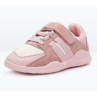 baratos Sapatos de Menina-Para Meninos / Para Meninas Sapatos Couro de Porco Primavera & Outono Conforto Tênis Corrida Velcro para Infantil Preto / Rosa claro