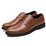 tanie Obuwie męskie-Męskie Komfortowe buty PU Zima Casual Oksfordki Antypoślizgowe Czarny / Żółty