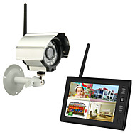 "billige -trådløs 4ch quad dvr 1 kameraer pal 628x582 ntsc 510x492 med 7 ""800x480 tft-lcd monitor hjemmesikkerhetssystem pal ntsc innebygd mikrofon"