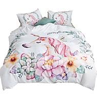 cheap Bedding Sets-Duvet Cover Sets Unicorn Polyster Reactive Print 3 Piece Bedding Sets queen/king