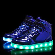 tanie Obuwie dziewczęce-Dla chłopców / Dla dziewczynek Obuwie PU Jesień i zima Świecące buty Adidasy LED na Czarny / Niebieski