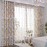billige Gardiner ogdraperinger-gardiner gardiner To paneler 2*(W107cm×L213cm) Lysegul / Soverom