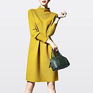 Жен. Большие размеры На выход На каждый день Трикотаж Платье - Однотонный Хомут Выше колена