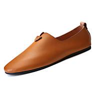 tanie Obuwie męskie-Męskie Mokasyny PU Lato Biznes Mokasyny i buty wsuwane Oddychający Czarny / Brązowy / Ciemnoszary