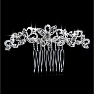 Women's Fashion Imitation Pearl Rhinestone Alloy Hair Combs-Floral / Leaf