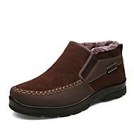 tanie Obuwie męskie-Męskie Fashion Boots PU Zima Casual Botki Zatrzymujący ciepło Kozaczki / kozaki do kostki Gradient Czarny / Brązowy