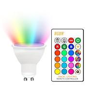 KWB 1set 5 W 400-450 lm GU10 / E26 / E27 LED-spotlys 2 LED Perler COB Dæmpbar / Dekorativ / Farvegradient RGBW 85-265 V