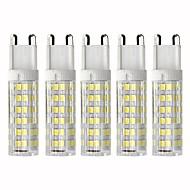 billige Kornpærer med LED-5pcs 4.5 W 450 lm G9 LED-kornpærer T 76 LED perler SMD 2835 Mulighet for demping Varm hvit / Kjølig hvit 110 V