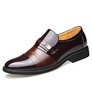 tanie Obuwie męskie-Męskie Komfortowe buty Mikrowłókno Zima Casual Mokasyny i buty wsuwane Antypoślizgowe Kolorowy blok Czarny / Brązowy / Impreza / bankiet