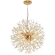 QIHengZhaoMing 9-Light Sputnik Anheng Lys Omgivelseslys galvanisert Metall Krystall, Øyebeskyttelse 110-120V / 220-240V Varm Hvit Pære Inkludert / G9