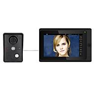 billige Dørtelefonssystem med video-7 tommers trådløs / kablet wifi ip video dør telefon dørklokk intercom system med støtte fjern app opplåsingsrekord