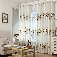 billige Gardiner ogdraperinger-window Treatment Termisk isolert Maljetopp Soverom 1 Panel 229 x 183cm / Broderi