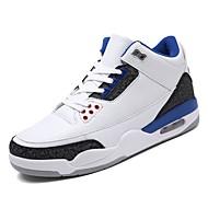 Heren Comfort schoenen PU Lente Sportschoenen Wandelen Zwart / zwart / wit / Wit / Blauw