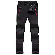 Femme Pantalons de Randonnée Extérieur Coupe Vent Etanche Design Anatomique Hiver Coquille Souple Pantalons / Surpantalons Randonnée Camping Marche Noir Violet Gris XXXL 4XL 5XL