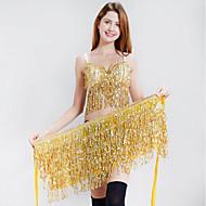 Göbek Dansı Kıyafetler Kadın's Eğitim / Performans Polyester Payet Kolsuz Düşük Sütyen / Bel Aksesuarları