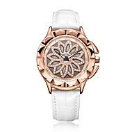 billige Quartz-Dame Armbåndsur Quartz Hvid Afslappet Ur Analog Afslappet Mode - Rose Guld / Hvid / Rustfrit stål