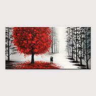 Hang-Dipinto ad olio Dipinta a mano - Astratto Paesaggi Modern Senza telaio interno