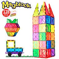 Μαγνητικά πλακίδια 128 pcs Δημιουργικό γεωμετρική Pattern Διαβάθμιση χρώματος Όλα Αγορίστικα Κοριτσίστικα Παιχνίδια Δώρο