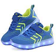 Jungen Schuhe Gestrickt Frühling / Herbst Leuchtende LED-Schuhe Sportschuhe Walking Schnalle / LED für Kinder Blau / Rosa / Schwarz / Rot