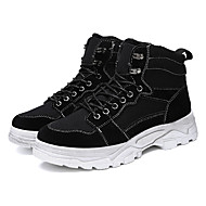 cheap Men's Boots-Men's Snow Boots Canvas Winter Casual Boots Keep Warm Mid-Calf Boots Black / Yellow