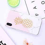 Case Kompatibilitás Apple iPhone XR / iPhone XS Max Minta Fekete tok Rajzfilm / Gyümölcs / Márvány Puha TPU mert iPhone XS / iPhone XR / iPhone XS Max