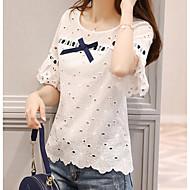 Majica s rukavima Žene Dnevno Geometrijski oblici / Color block U izrez Vintage Style / Šupalj Obala L / Proljeće / Ljeto / Jesen
