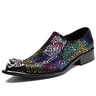 baratos Sapatos Masculinos-Homens Sapatos formais Pele Napa Outono Negócio / Formais Oxfords Manter Quente Preto / Festas & Noite