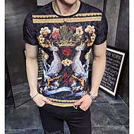 Heren Street chic T-shirt Grafisch / Bloemenprint Ronde hals Fantastic Beasts / Korte mouw
