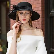 100% lana cappelli con Con diamantini / Piume 1pc Casual / Da tutti i giorni Copricapo
