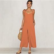 Női Napi Utcai sikk Narancssárga Sötétszürke Sárga Jumpsuitek, Egyszínű M L XL Ujjatlan