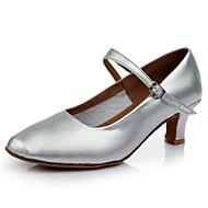 billige Moderne sko-Dame Moderne sko Lakklær Sandaler / Høye hæler Kubansk hæl Kan spesialtilpasses Dansesko Sølv