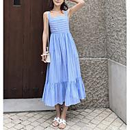 Women's Daily Basic Sheath Dress Blue M L XL