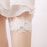 Krajka Elegantní / Pro nevěstu Svatební ošacení S Roztroušené křišťálky / Perličky Podvazky Svatební / Párty