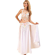 ชุดเต้นระบำหน้าท้อง Outfits สำหรับผู้หญิง การฝึกอบรม / Performance เส้นใยสังเคราะห์ ปักเลื่อม เสื้อไม่มีแขน ปรับตัวลดลง กระโปรง / ชุดชั้นใน / เครื่องประดับเอว