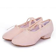 billige Ballettsko-Dame Ballettsko Lerret Høye hæler Kan ikke spesialtilpasses Dansesko Svart / Rød / Rosa / Trening