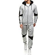 Homens Básico Moletom / activewear Set Sólido