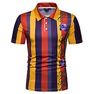 Tynn Skjortekrage EU / USA størrelse Polo Herre - Geometrisk Oransje L / Kortermet