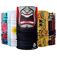 WEST BIKING® Pollution Protection Mask Black / Red Blue+Orange Blue / White Windproof Breathable High Elasticity Mountain Bike / MTB Outdoor Exercise Cycling / Bike Men's Cartoon Polyester / Stretchy